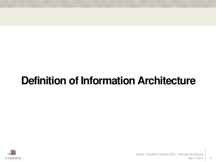 Information architecture for Definition architecture informatique