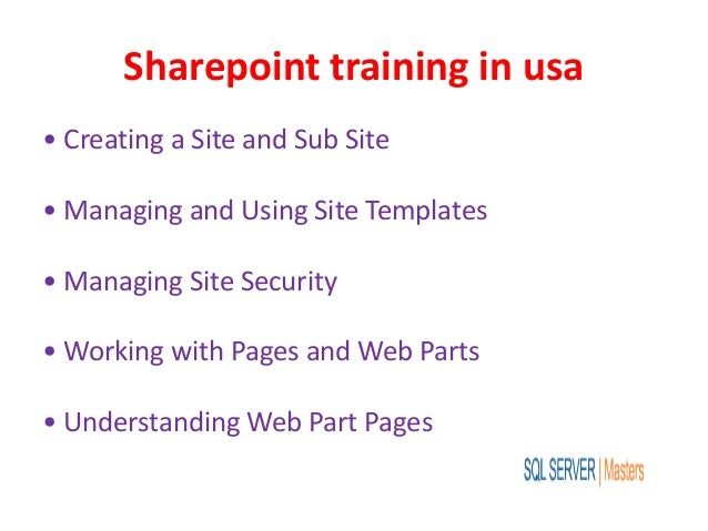sharepoint training in usa. Black Bedroom Furniture Sets. Home Design Ideas