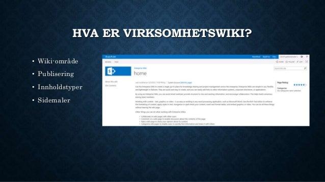 Forbedringer av SharePoint virksomhetswiki Slide 2