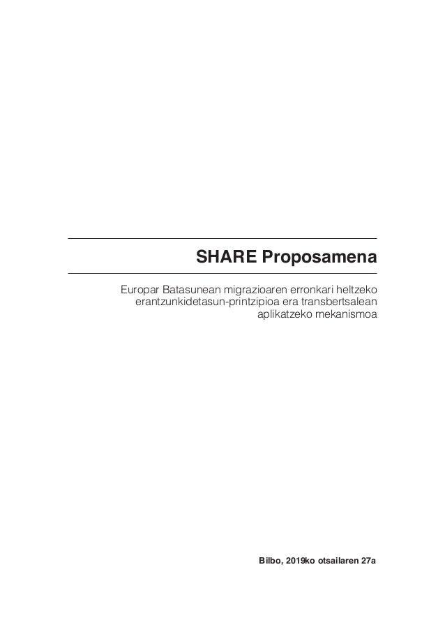 SHARE Proposamena Europar Batasunean migrazioaren erronkari heltzeko erantzunkidetasun-printzipioa era transbertsalean apl...
