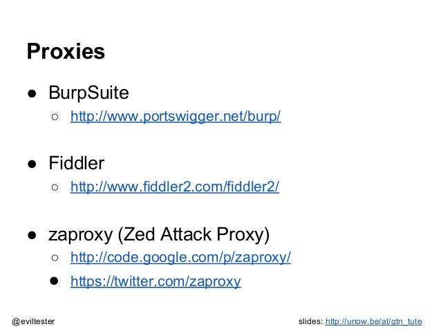 The Evil Tester's Guide to HTTP proxies Tutorial