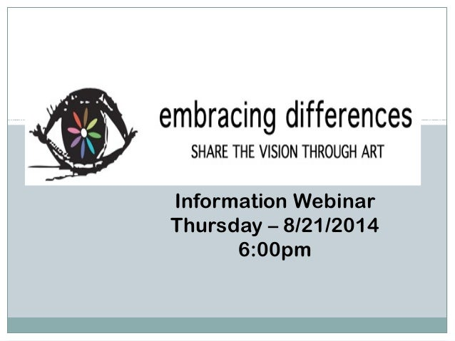 Information Webinar Thursday – 8/21/2014 6:00pm