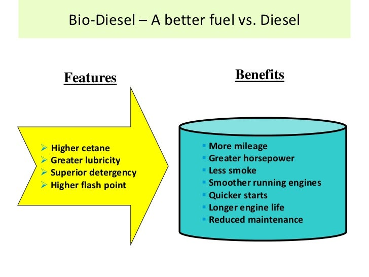 "biodiesel is good for our country essay Domestic energy cropswhen crops used to produce biodiesel are grown in the country in which using good stewardship ""we will convert our truck and van fleet."