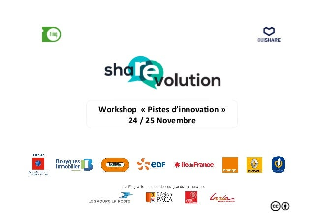 Workshop  «  Pistes  d'innova3on  »  24  /  25  Novembre