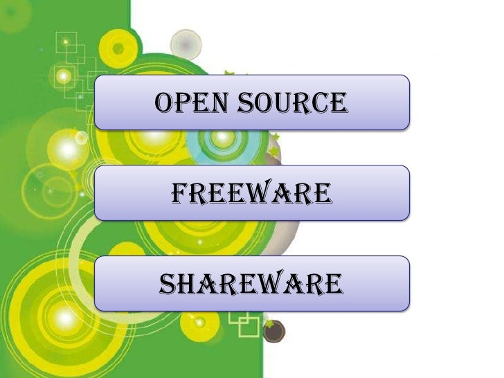 Open Source  Freeware  Shareware   Powerpoint Templates                         Page 1