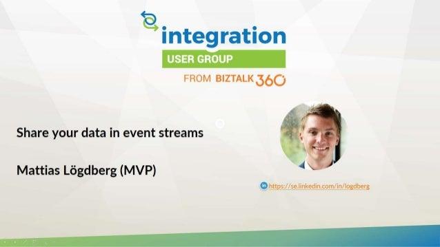 Share your data in event streams Mattias Lögdberg