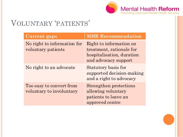 INVISIBILITY OF FAMILIES/CARERS Current gaps MHR Recommendations Invisibility of carers, except as initiators of involunta...