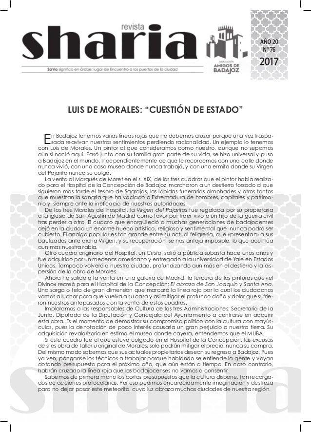 """LUIS DE MORALES: """"CUESTIÓN DE ESTADO"""" En Badajoz tenemos varias líneas rojas que no debemos cruzar porque una vez traspa- ..."""