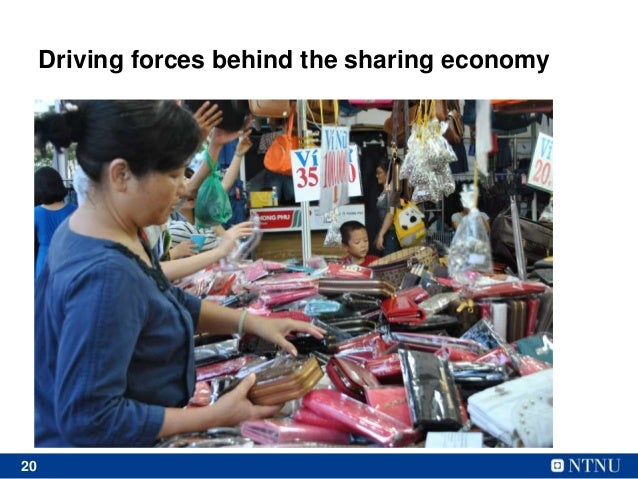 20 Driving forces behind the sharing economy • Too much waste