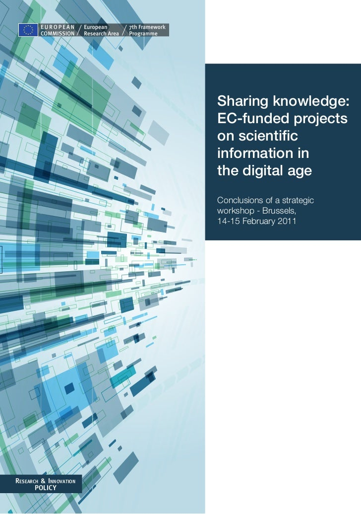 Sharing knowledge:                        EC-funded projects                        on scientific                        i...