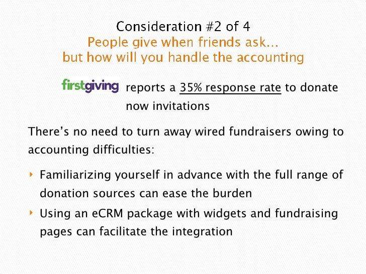 <ul><li>Familiarizing yourself in advance with the full range of donation sources can ease the burden  </li></ul><ul><li>U...