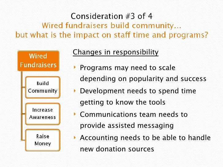 <ul><li>Programs may need to scale depending on popularity and success </li></ul><ul><li>Development needs to spend time g...