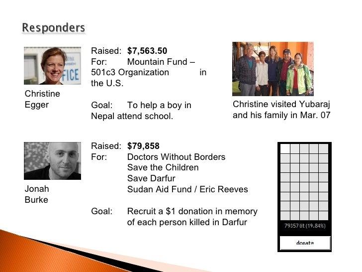 Christine Egger Jonah Burke Raised:  $7,563.50   For:  Mountain Fund –  501c3 Organization  in the U.S. Goal: To help a bo...