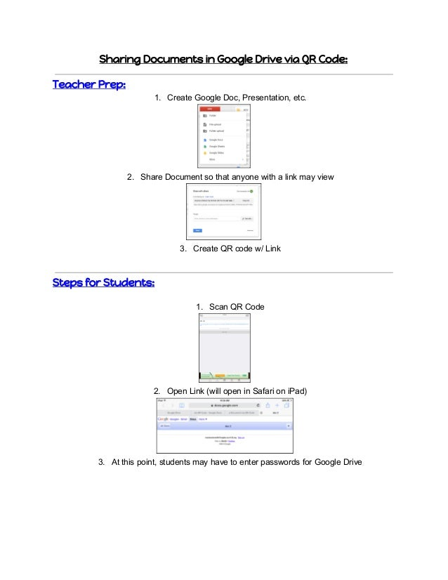 how to share documents on google drive ipad