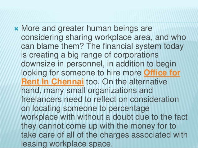 Sharing an office space – Advantages & Disadvantages Slide 2