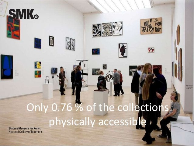 Only 0.76 % of the collections physically accessible