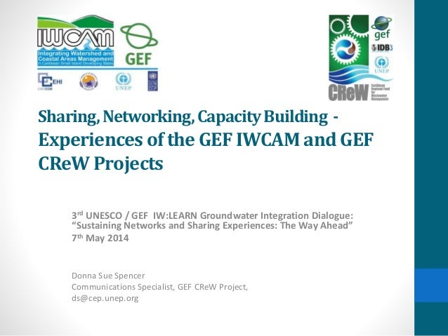 Sharing,Networking,CapacityBuilding - Experiencesof the GEF IWCAM and GEF CReWProjects 3rd UNESCO / GEF IW:LEARN Groundwat...
