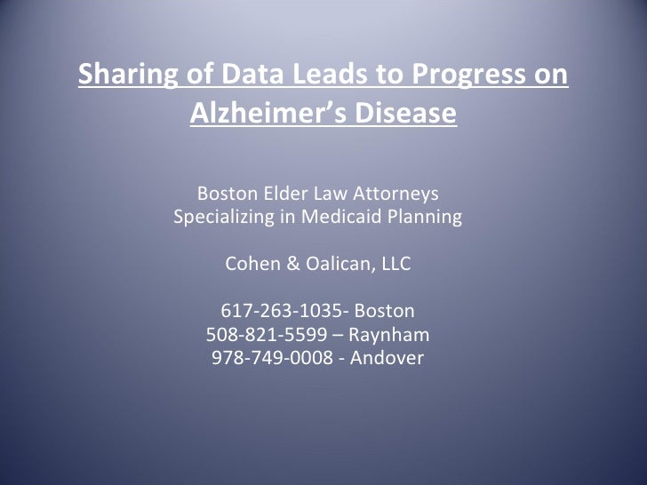 Sharing of data leads to progress on alzheimers.doc
