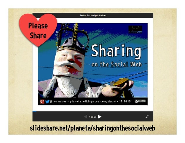 Sharing on the Social Web