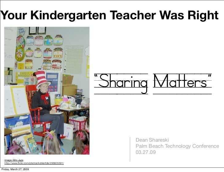 "Your Kindergarten Teacher Was Right                                                           ""Sharing Matters""           ..."