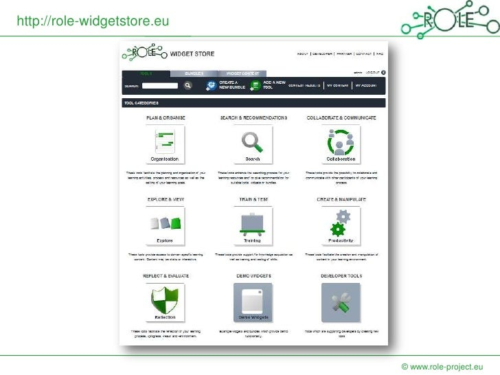 http://role-widgetstore.eu                             © www.role-project.eu