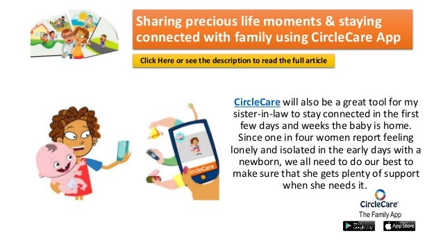 Sharing precious life moments and staying connected with family using…