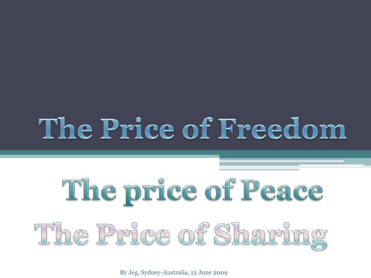 What is the Cost of Peace?
