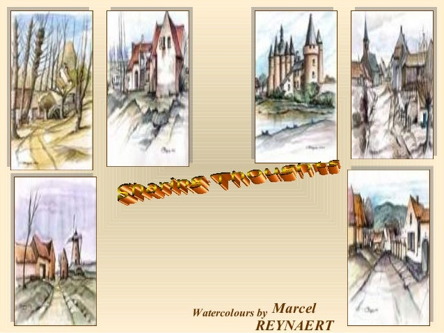 Marcel REYNAERT  Watercolours by