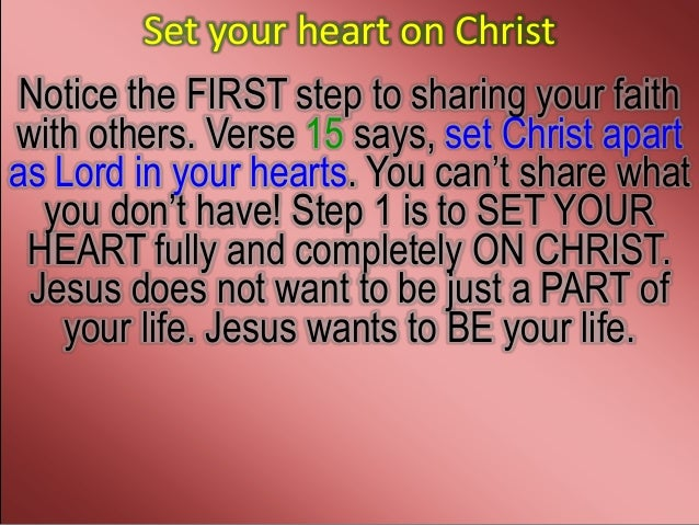 sharing your faith 1 peter 3 15 16