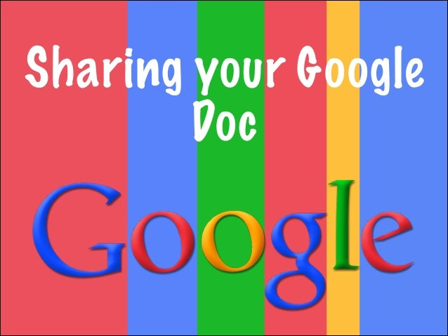 Sharing your Google Doc