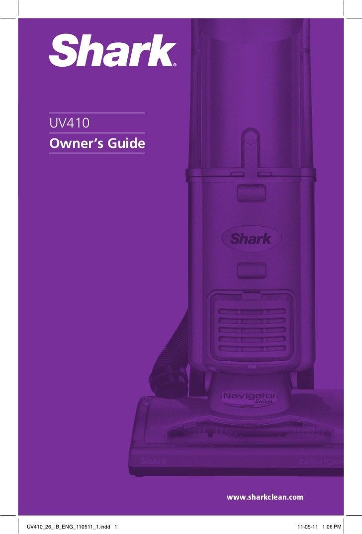 Shark Navigator Manual Uv410 26 Ib Eng 110511 1