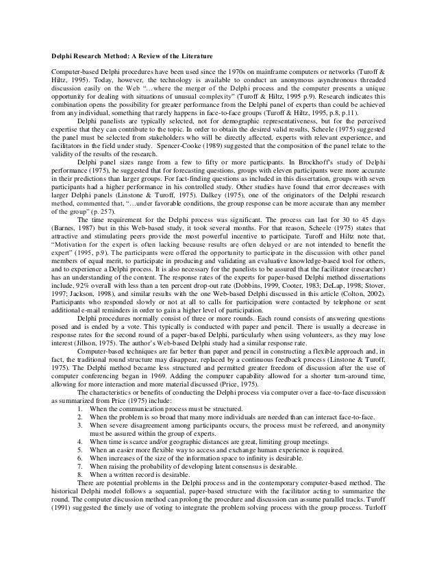 Delphi Method - an overview   ScienceDirect Topics