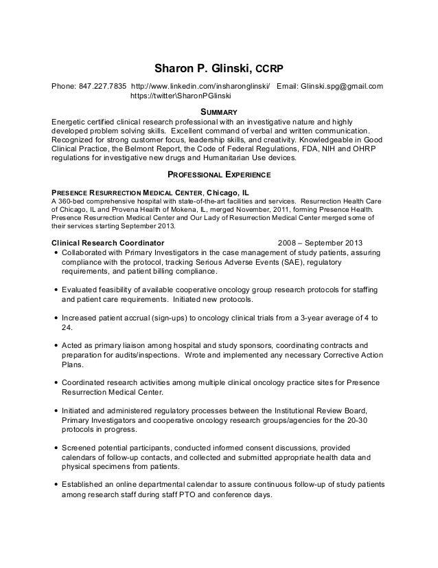 Sharon Glinski Resume 10 21 14