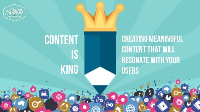1. know your audience 2. MAKE IT EASY 3. keep improving CONTENT IS KING CREATING MEANINGFUL CONTENT THAT WILL RESONATE WIT...
