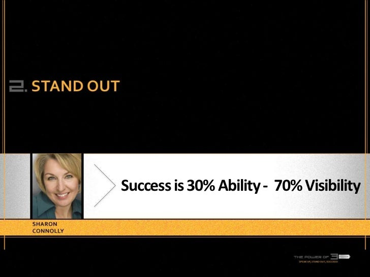 Success is 30% Ability - 70% Visibility