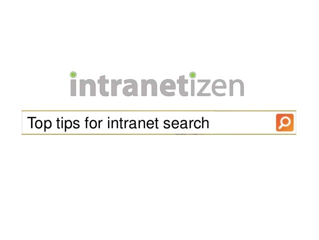 Top tips for intranet search