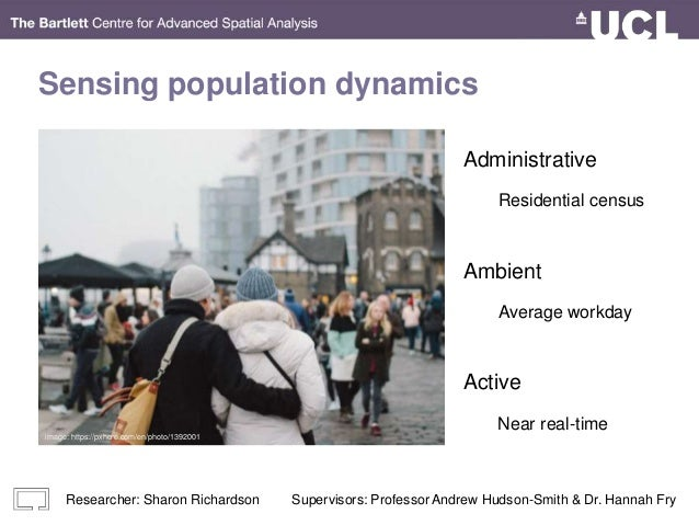 Sensing population dynamics Administrative Ambient Active Average workday Residential census Near real-time image: https:/...
