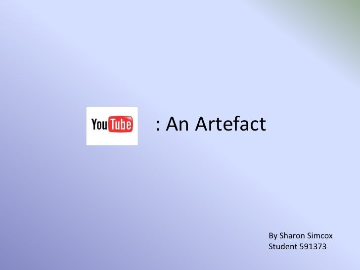 : An Artefact<br />By Sharon Simcox<br />Student 591373<br />