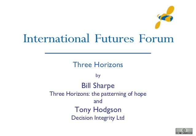 Three Horizons by  Bill Sharpe Three Horizons: the patterning of hope and  Tony Hodgson Decision Integrity Ltd