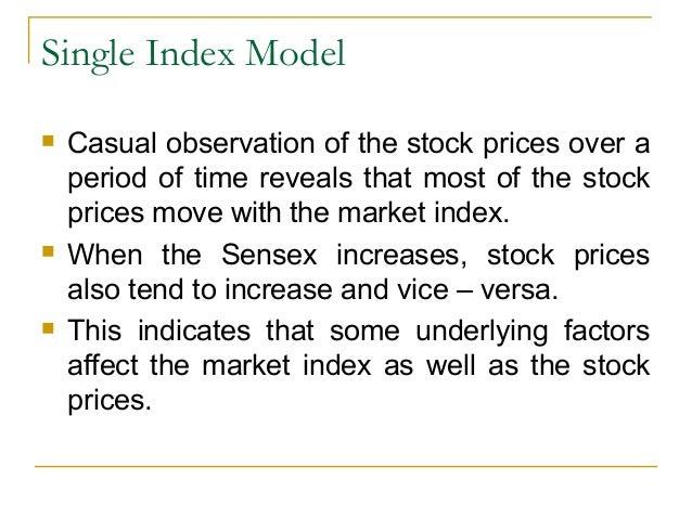 Model investopedia index single Sharpe's single