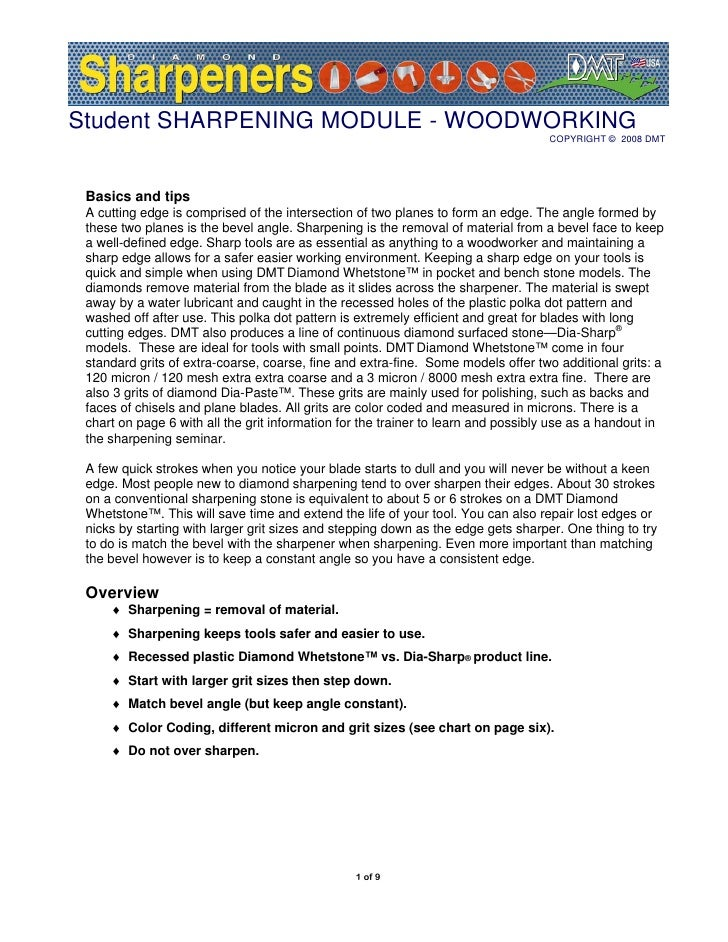 How to Sharpen - Maintain woodworking tool edges