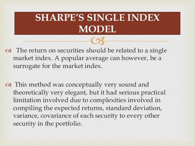 Model investopedia index single Single index