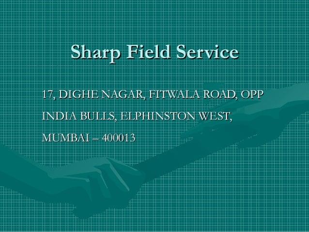 Sharp Field ServiceSharp Field Service____________________________________________________________________________________...