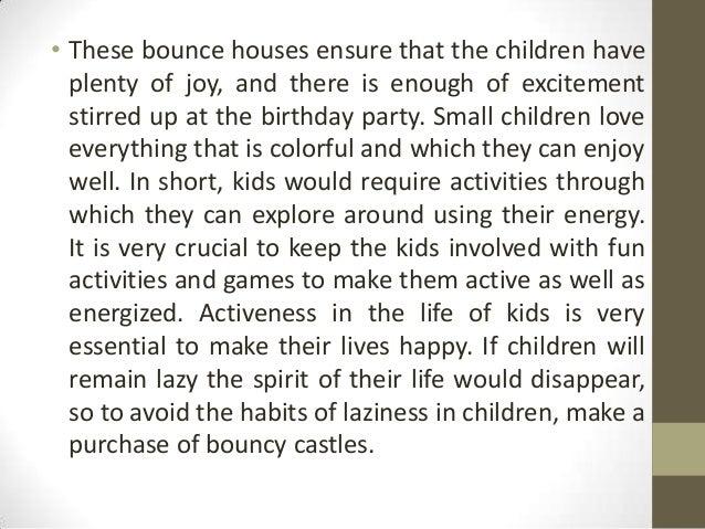 Sharp rise in demand of kids jumping castles Slide 3