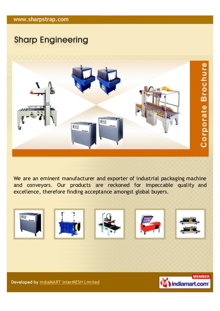 We are an eminent manufacturer and exporter of industrial packaging machineand conveyors. Our products are reckoned for im...