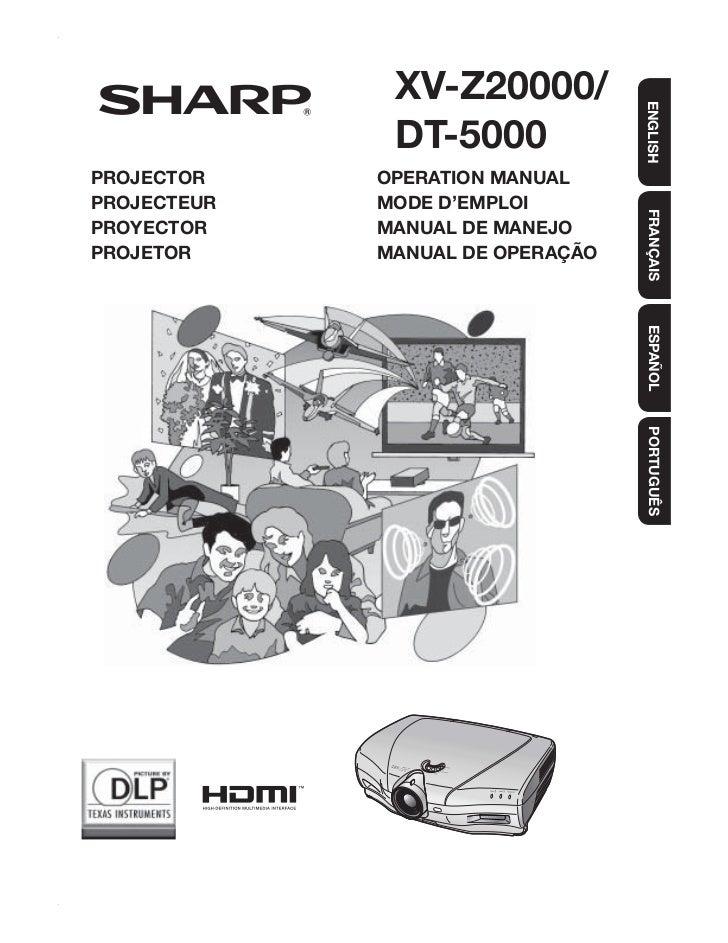 XV-Z20000/                                  ENGLISH              DT-5000PROJECTOR    OPERATION MANUALPROJECTEUR   MODE D'E...