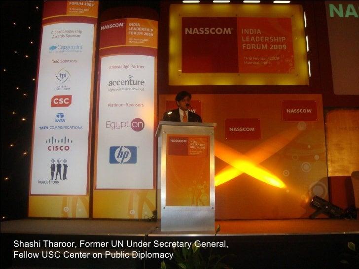 Shashi Tharoor, Former UN Under Secretary General, Fellow USC Center on Public Diplomacy