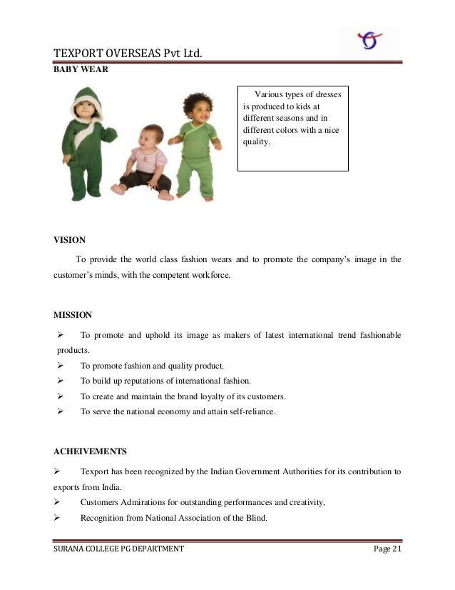 Organisational Study At Texport Overseas Ltd