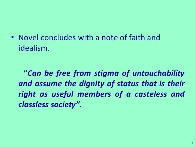 character of bakha in untouchable Untouchable by mulkraj anand is a novel of social protest  in his realistic portrayal of the novel 'untouchable'  untouchables through the character bakha .