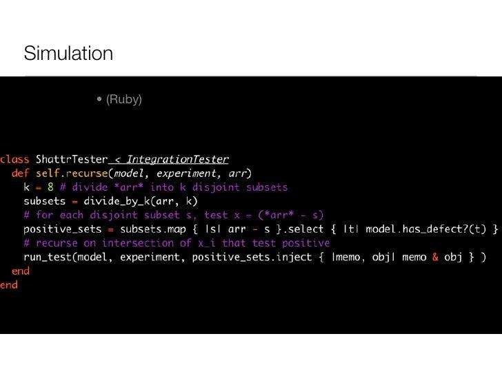 Simulation          • (Ruby)